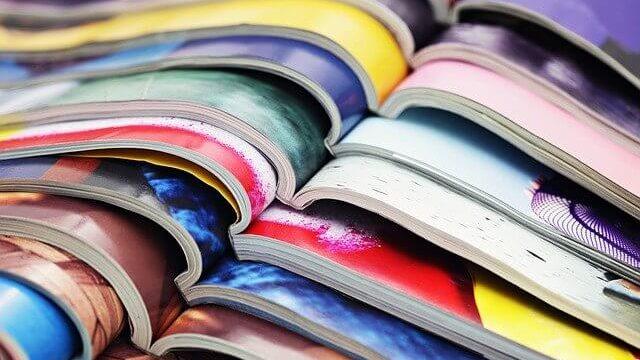 開きかけの雑誌