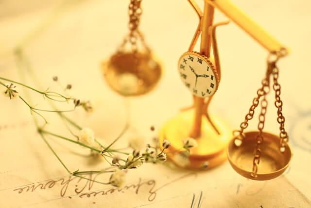 時計付きの天秤