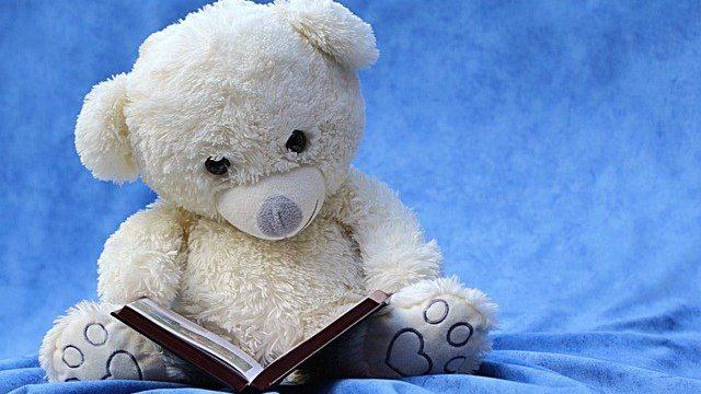 読書するクマ
