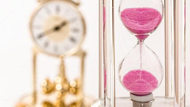 時計と砂時計
